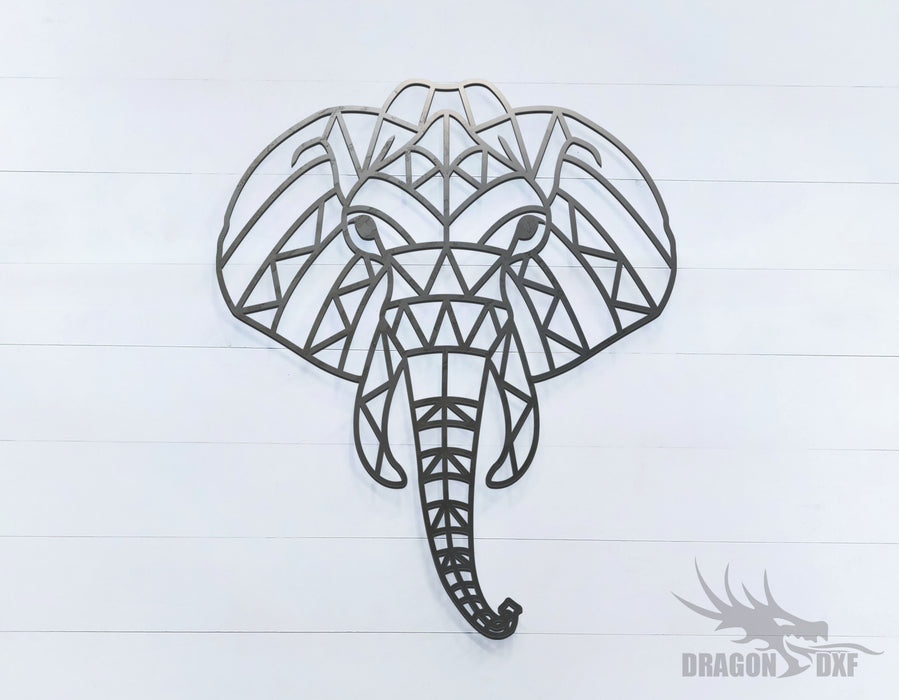 Elephant - Geometric - Deco - Animals -  DXF Download