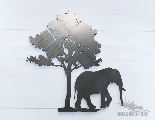 Safari Elephant - Zoo Animals -  DXF Download