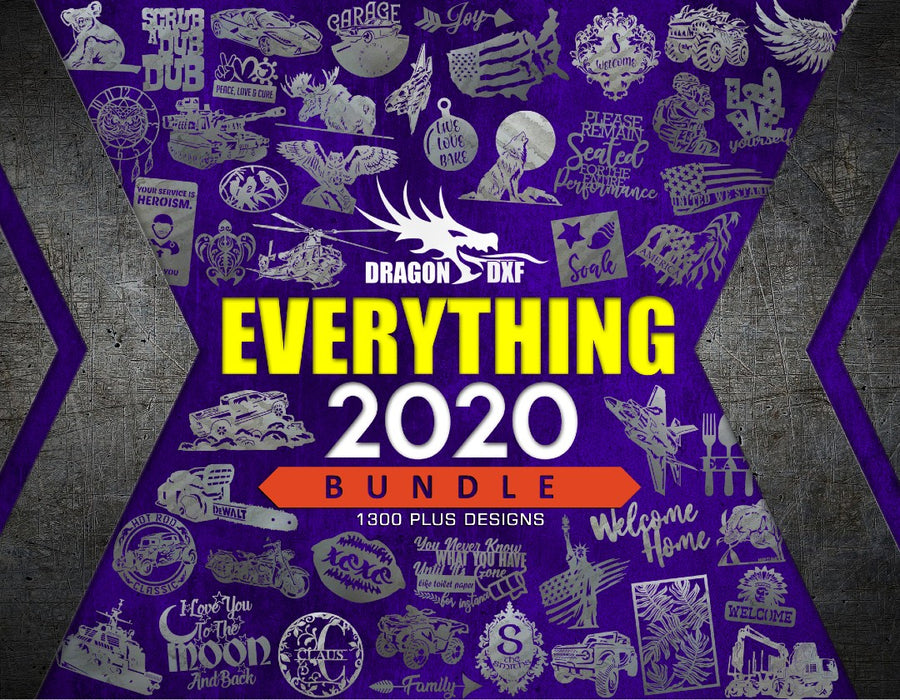 Everything 2020 Bundle - 1300+ Designs - DXF Download