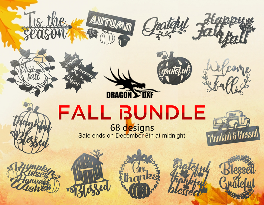 Fall Bundle - DXF Download
