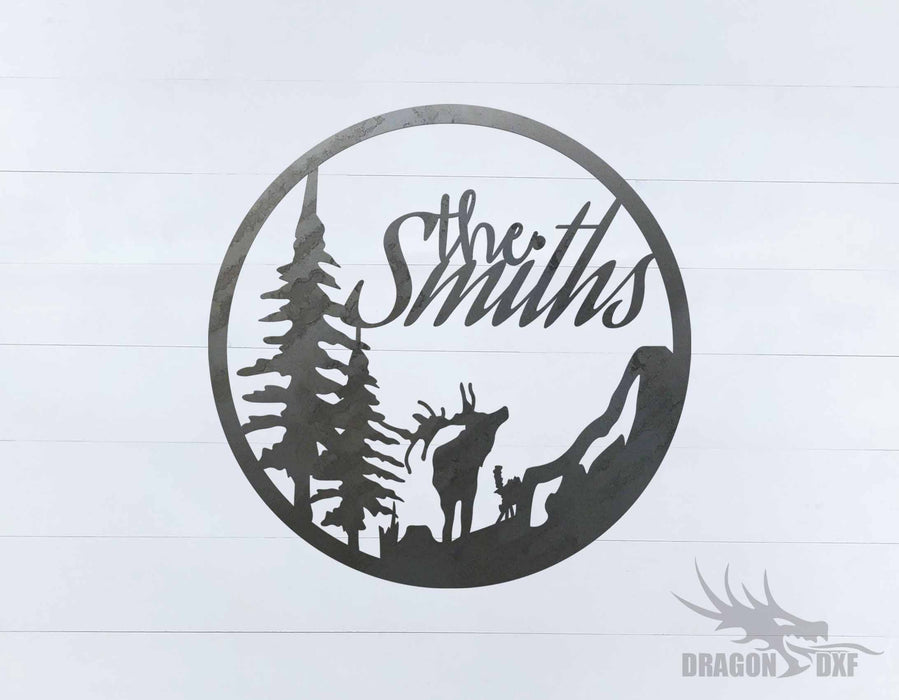 Custom Family name sign 4 - DXF Download