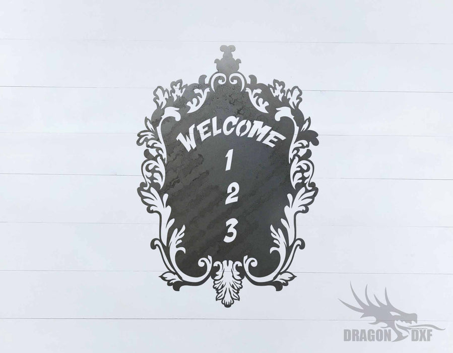 Filigree Welcome House No 1 - DXF Download
