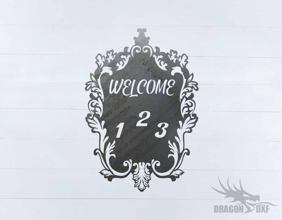 Filigree Welcome House No 3 - DXF Download