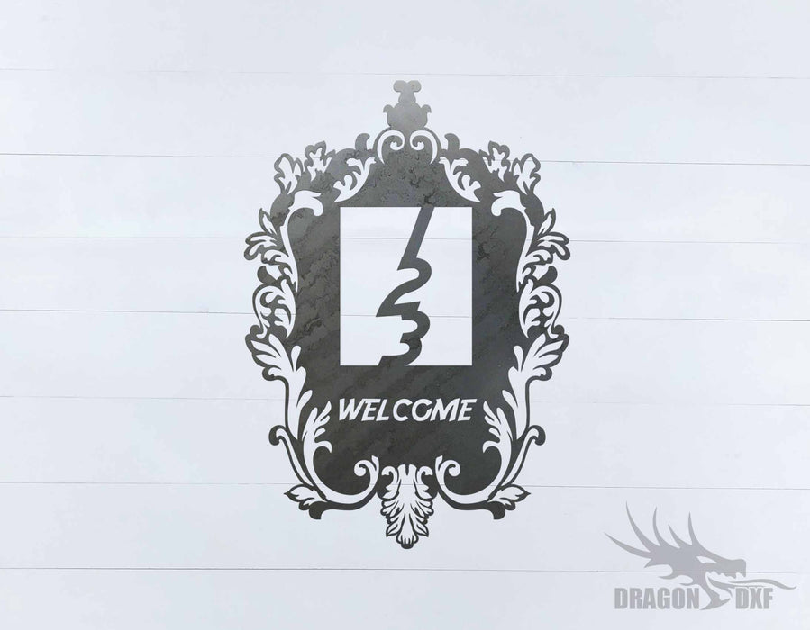 Filigree Welcome House No 5 - DXF Download