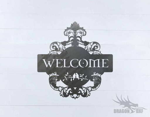 Filigree Welcome Sign 1 - DXF Download