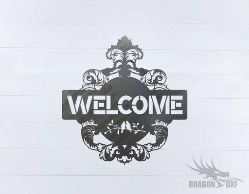 Filigree Welcome Sign 3 - DXF Download