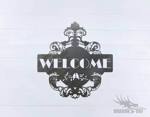 Filigree Welcome Sign 4 - DXF Download