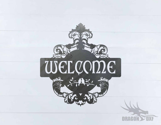 Filigree Welcome Sign 5 - DXF Download
