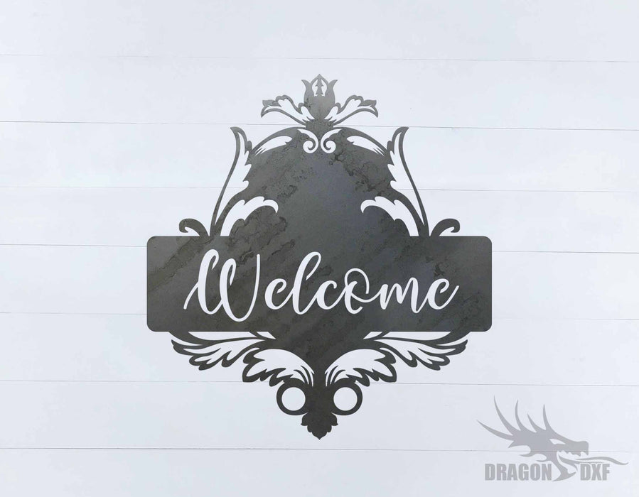 Filigree Welcome Sign 6 - DXF Download