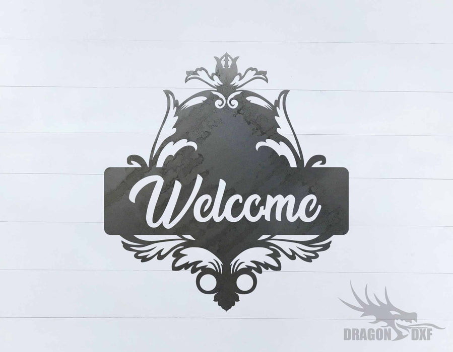 Filigree Welcome Sign 8 - DXF Download