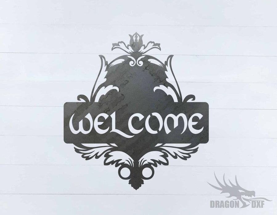 Filigree Welcome Sign 9 - DXF Download