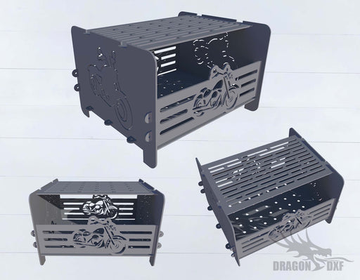 Firepit Motorcycle - Cut and Assemble - DXF Downloadable File
