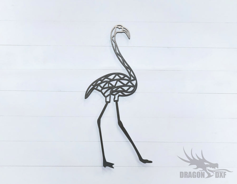Flamingo - Geometric - Deco - Animals -  DXF Download