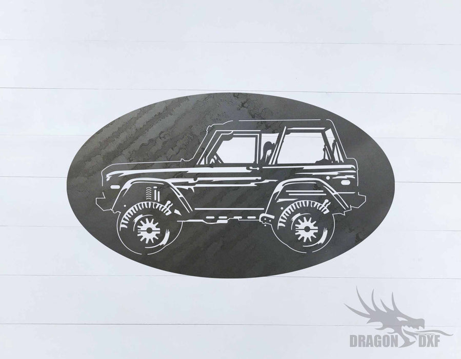 Ford Bronco 1966-1976 Oval 10 - DXF Download