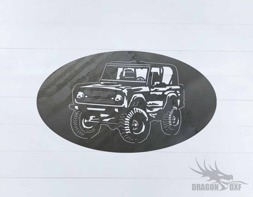 Ford Bronco 1966-1976 Oval 1 - DXF Download