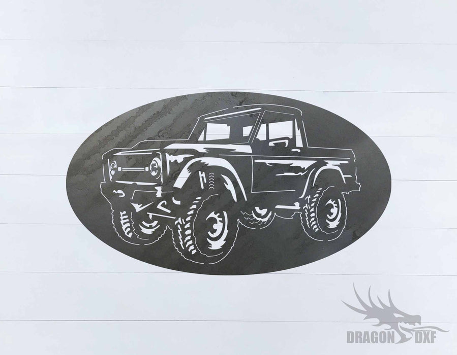 Ford Bronco 1966-1976 Oval 2 - DXF Download