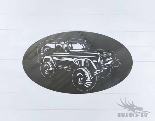 Ford Bronco 1966-1976 Oval 3 - DXF Download