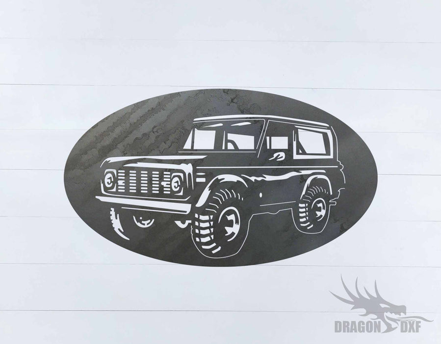Ford Bronco 1966-1976 Oval 4 - DXF Download