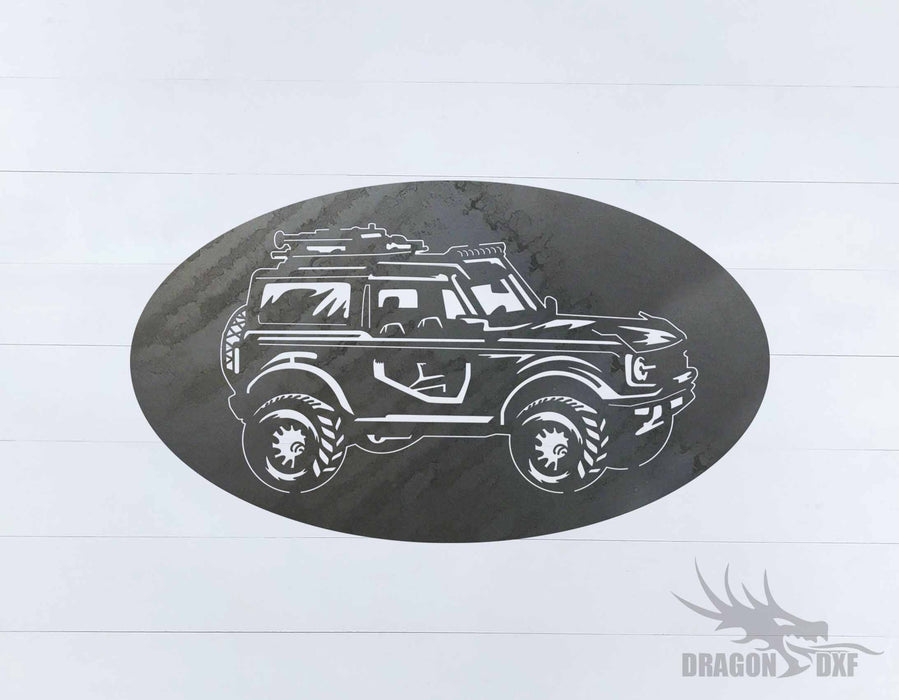 Ford Bronco 1966-1976 Oval 5 - DXF Download