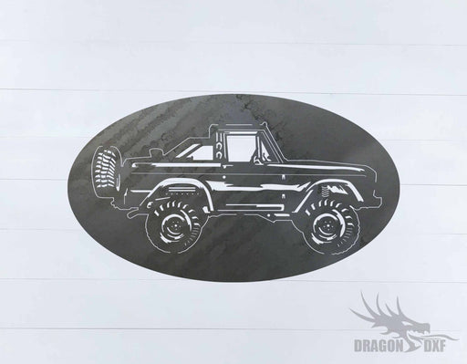 Ford Bronco 1966-1976 Oval 6 - DXF Download
