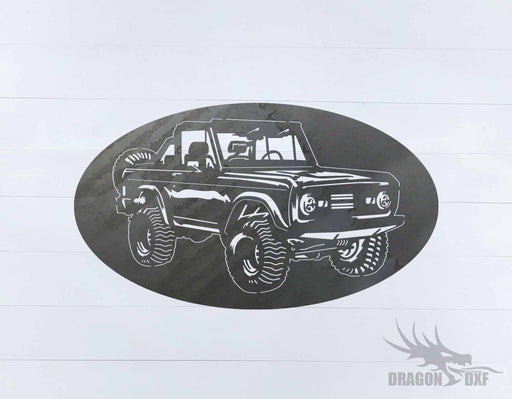 Ford Bronco 1966-1976 Oval 7 - DXF Download