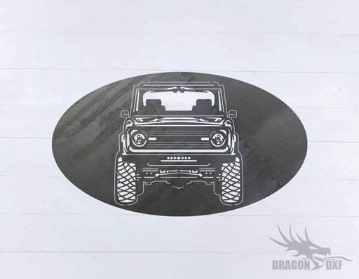 Ford Bronco 1966-1976 Oval 8 - DXF Download