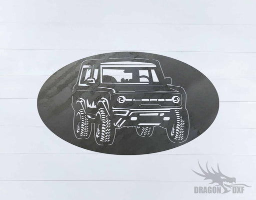 Ford Bronco 1966-1976 Oval 9 - DXF Download