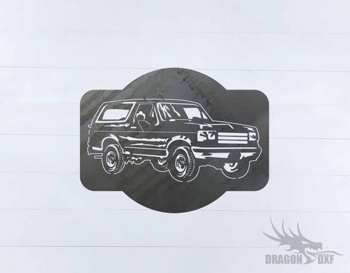 Ford Bronco 1989-1995 Design 1 - DXF Download