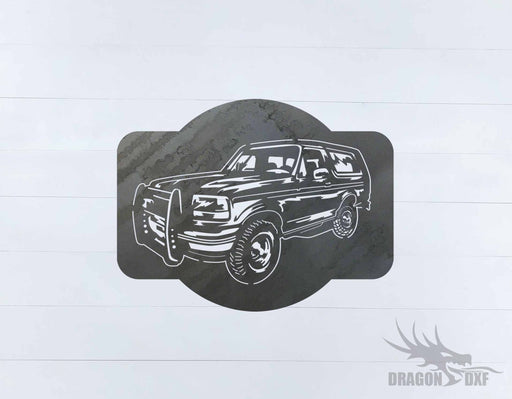 Ford Bronco 1989-1995 Design 2 - DXF Download