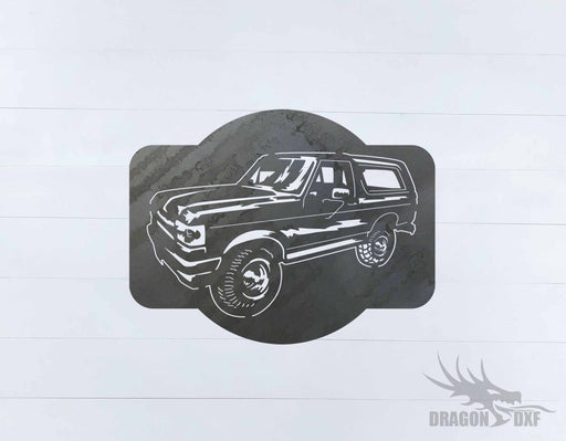 Ford Bronco 1989-1995 Design 3 - DXF Download