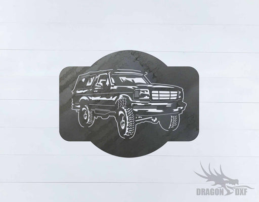 Ford Bronco 1989-1995 Design 4 - DXF Download