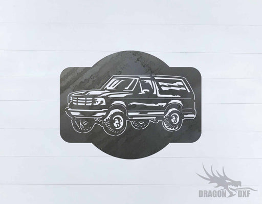 Ford Bronco 1989-1995 Design 5 - DXF Download