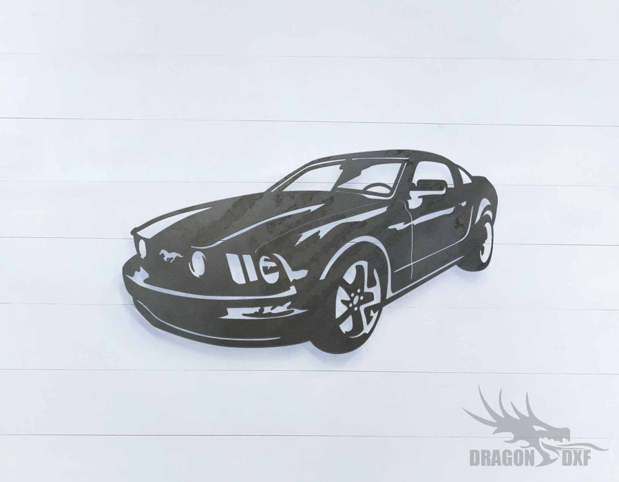 Ford Mustang 2008 Deluxe - DXF Download