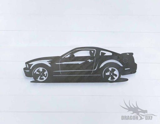 Ford Mustang 2018 GT Premium - DXF Download