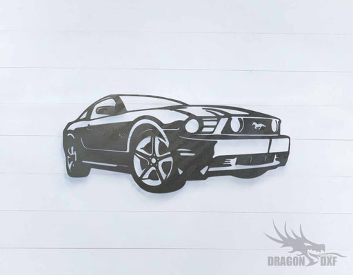 Ford Mustang SC - DXF Download