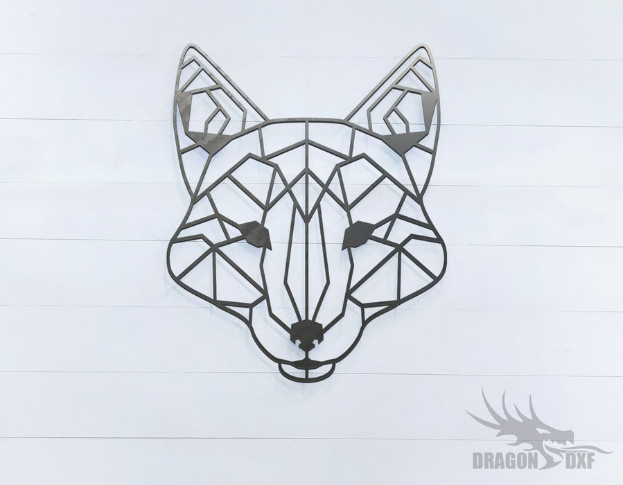Fox - Geometric - Deco - Animals -  DXF Download