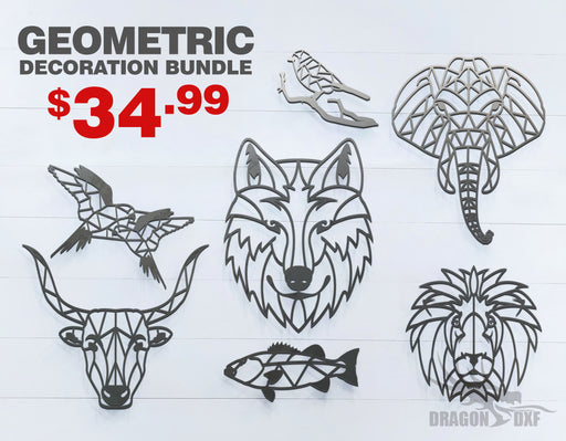 Animals Geometric Decor Bundle  - DXF Download