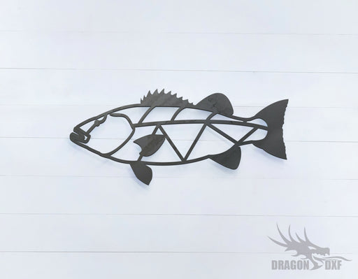 Giant Bass - Geometric - Deco - Animals -  DXF Download