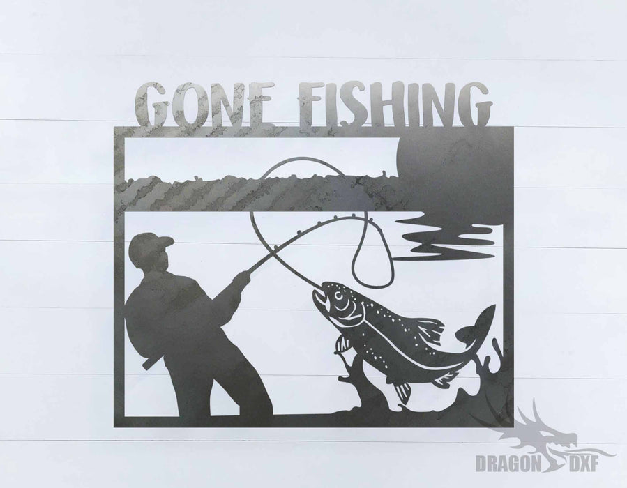 Gone Fishing Design  - DXF Download