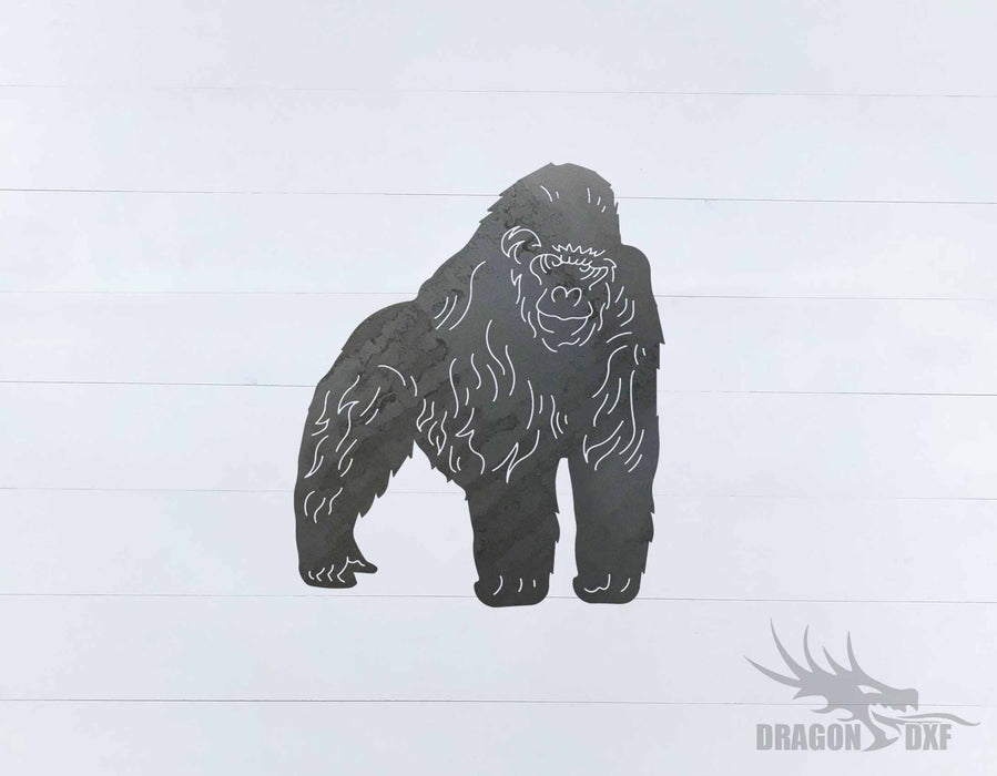 Animal - Gorilla Design - DXF Download