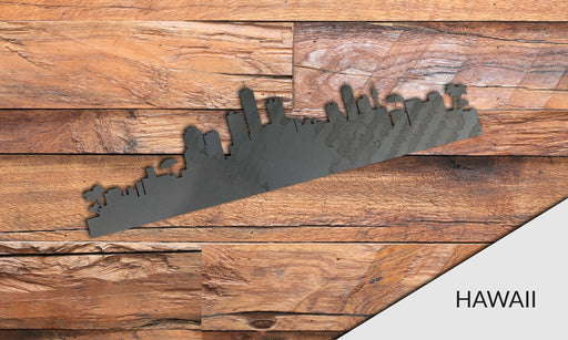 HAWAII Cityscape - Downtown Honolulu Silhouette - DXF Download