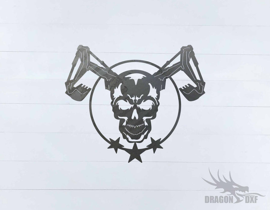 Heavy Equipment - Skull Design 2 - DXF Download