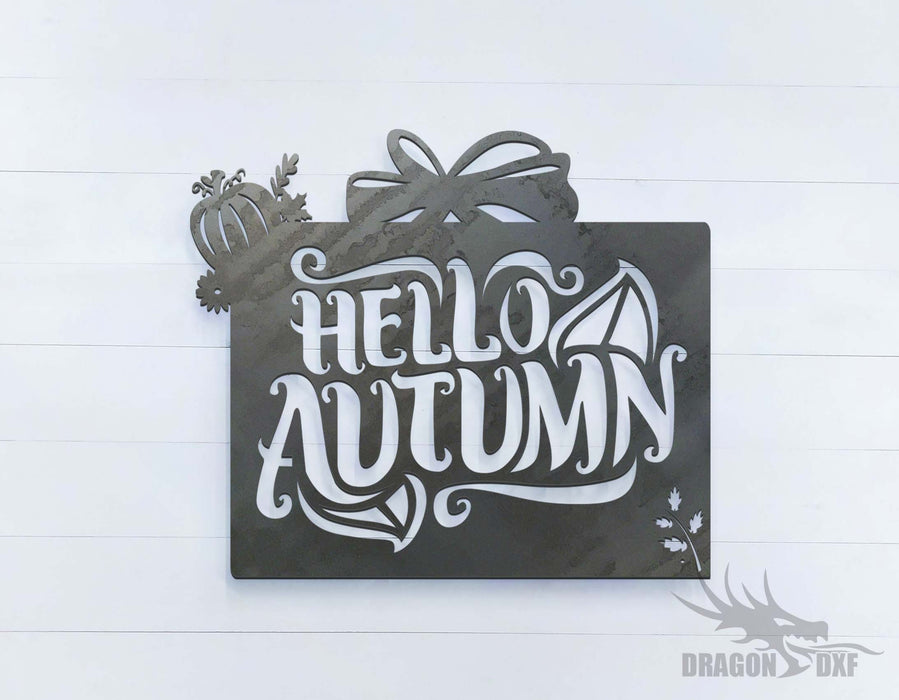 Hello Autumn - DXF Download