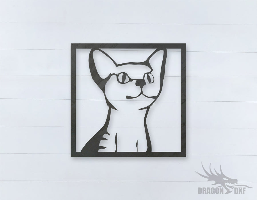 Home Decor Cat Design 1  - DXF Download