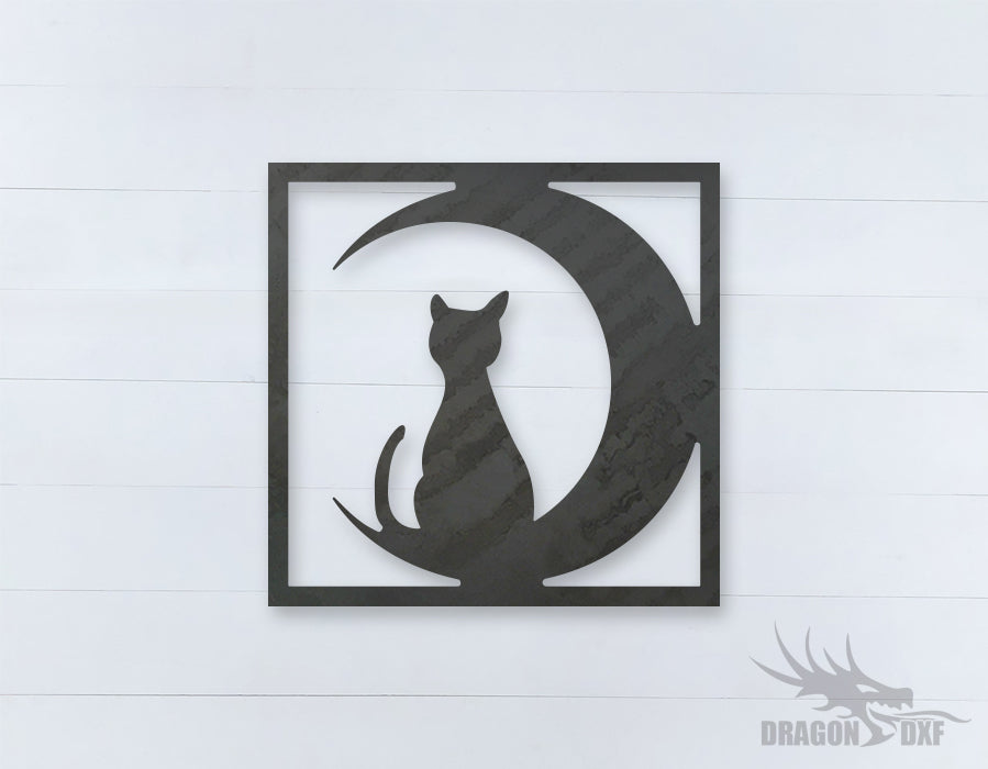 Home Decor Cat Design 6  - DXF Download