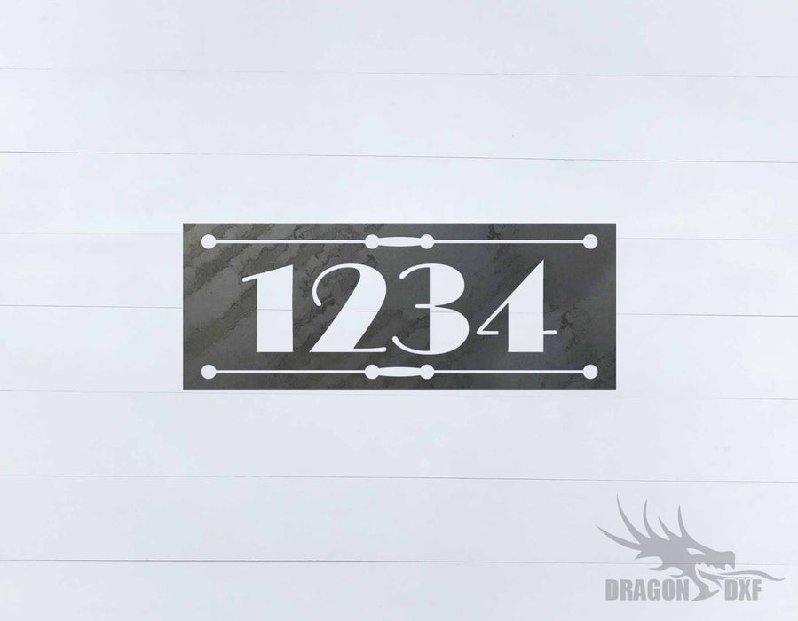 Horizontal Address Sign 6 - DXF Download