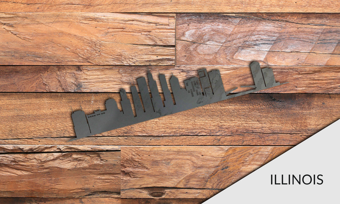 ILLINOIS Cityscape - Downtown Chicago Silhouette - DXF Download