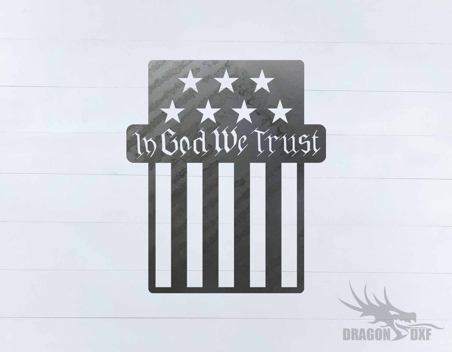 In God We Trust 1 Design - DXF Download