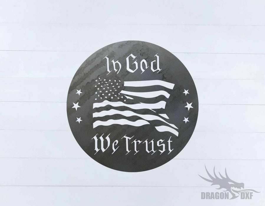 In God We Trust 2 Design - DXF Download