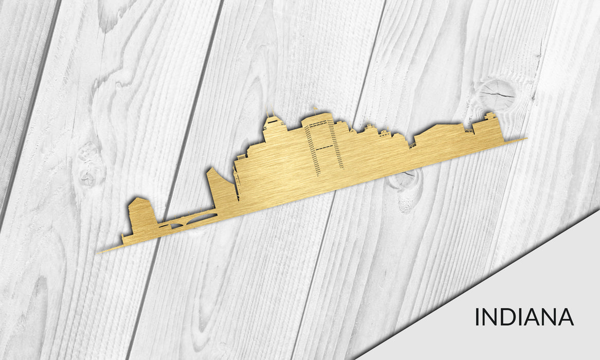 INDIANA Cityscape - Downtown Indianapolis Silhouette - DXF Download